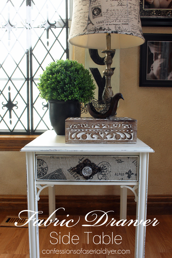 Fabric Drawer Side Table