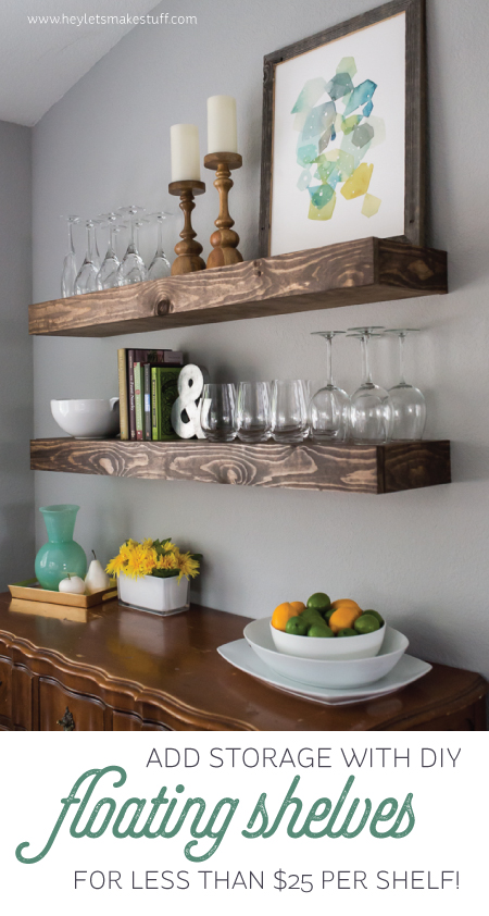 I Absolutely Love These Open Shelves In The Dining Room: Wood, Pallet + Plank Projects For The Home