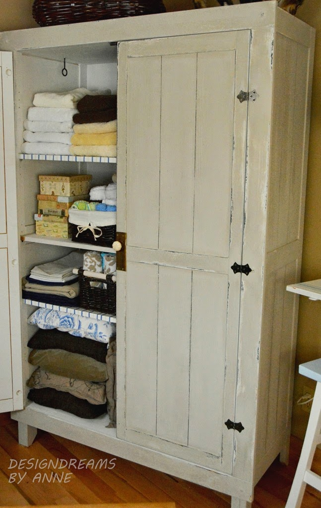 IKEA HACK WARDROBE TO VINTAGE LINEN CLOSET