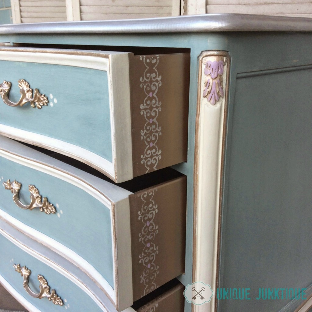 Oysters on the Half Shell Painted Dresser Makeover