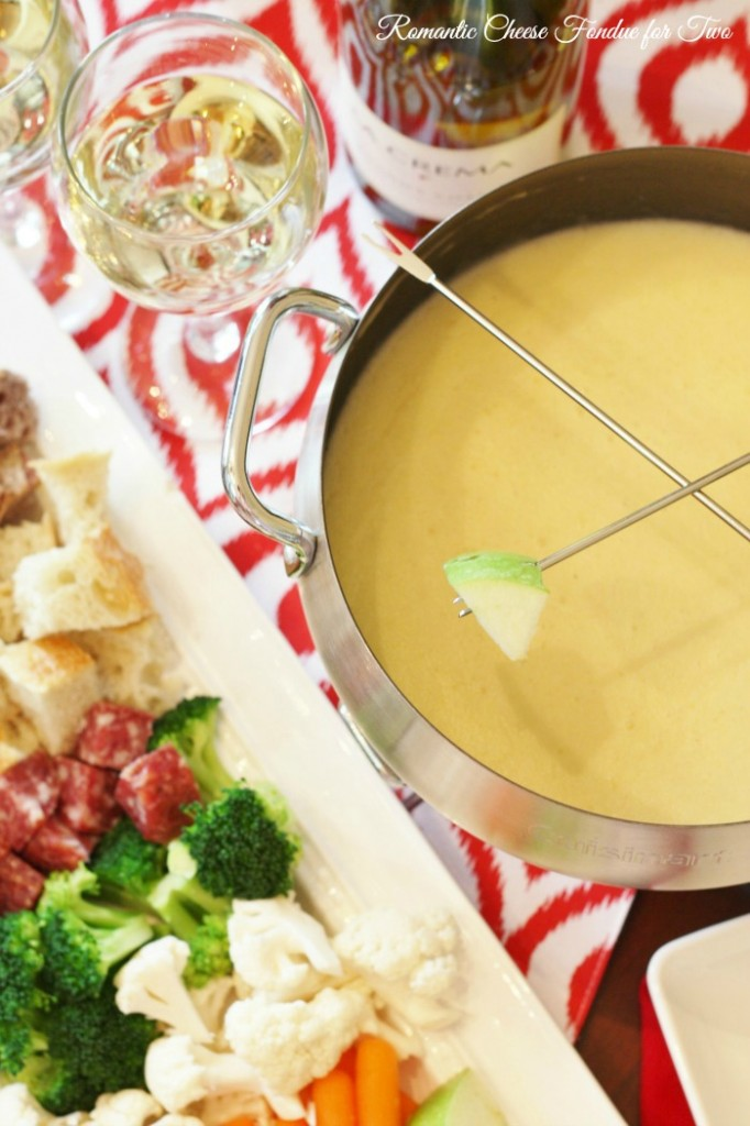 Romantic Cheese Fondue For Two - Valentines Menu