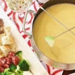 Romantic cheese fondue for 2