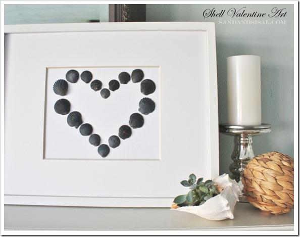 Simple Shell Valentine Art
