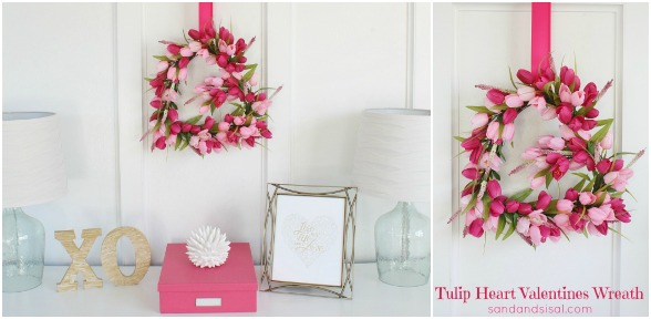 Tulip Valentines Wreath slide