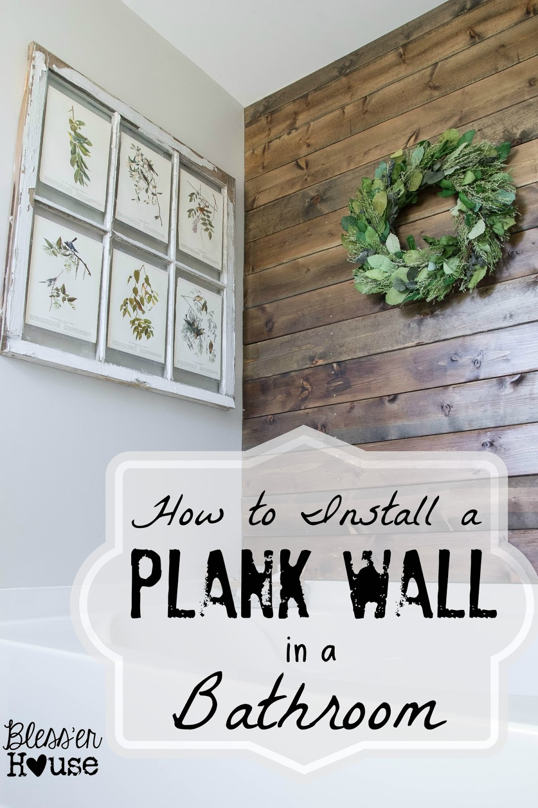 Wood pallet plank projects for the home sand and sisal for Wood bathroom wall decor