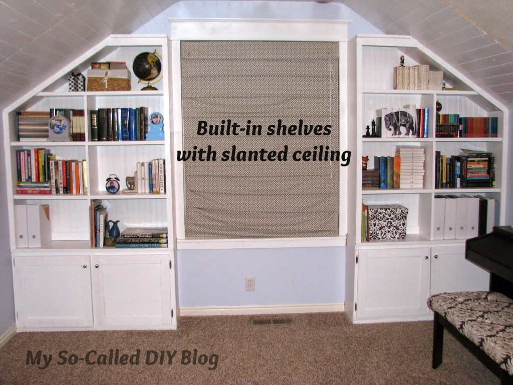 Bonus Room DIY Built-in Bookshelves