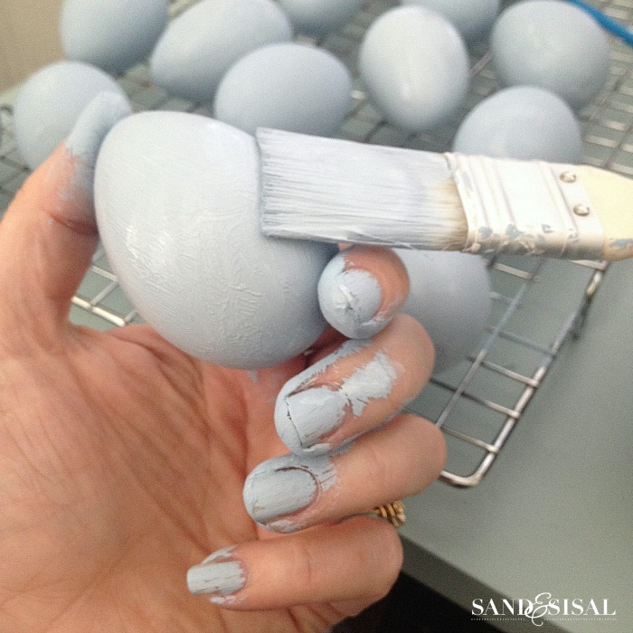 Chalk Paint Easter Eggs
