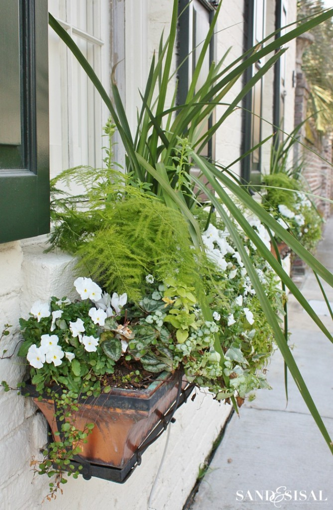 Copper Window Boxes - Charleston