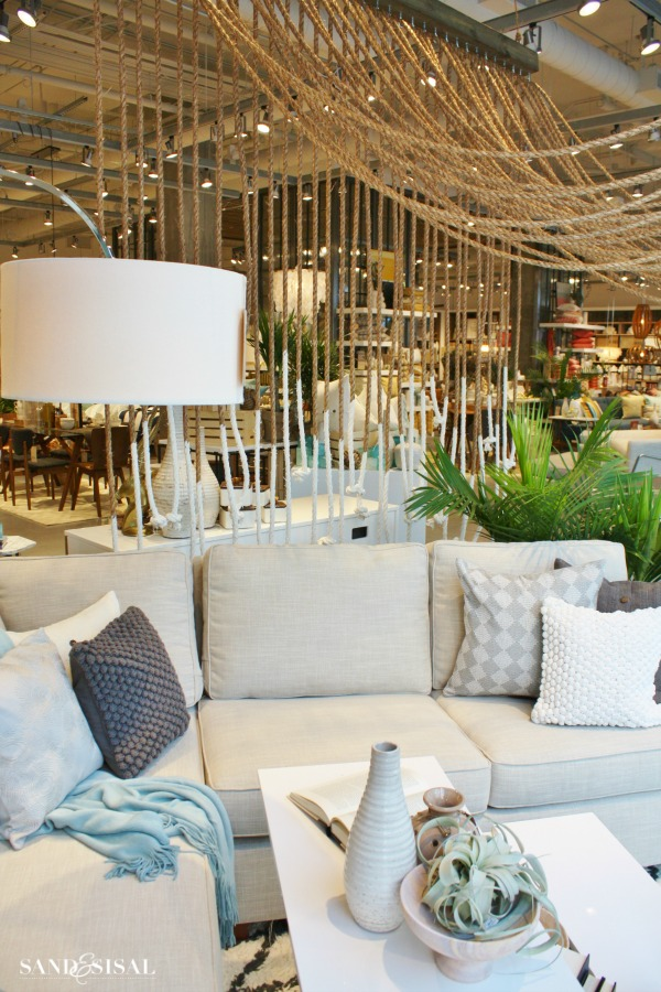 Creative Merchandising -Rope Canopy- West Elm