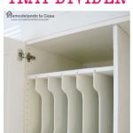 DIY - Above Fridge Tray Divider
