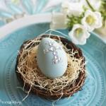 Robin's Egg Blue & Green Easter Table Setting