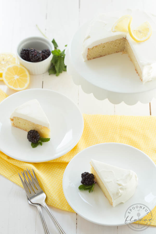 Lemon-Cake with White Chocolate Mousse Frosting