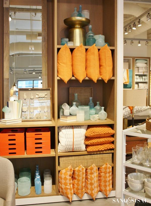 Tangerine & Turquoise - West Elm