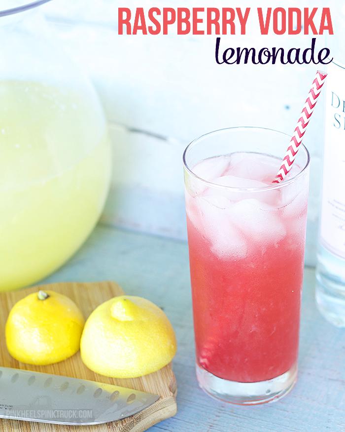 Raspberry Lemonade Cocktail ~ Pink Heels Pink Truck