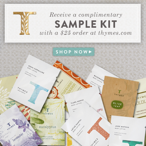Thymes FREE sample kit