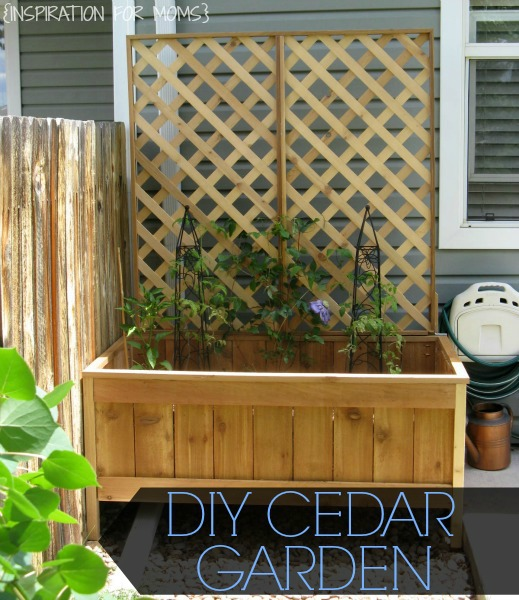 DIY cedar garden planter tutorial