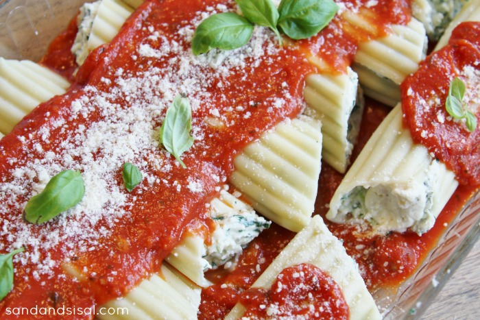 Amazing Stuffed Manicotti