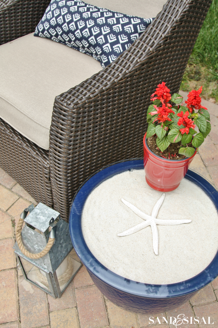 DIY Ceramic Planter Side Table Makeover