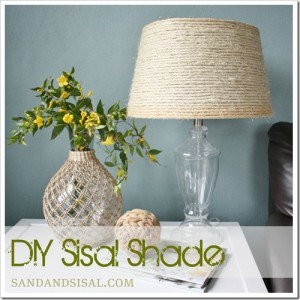 DIY Sisal Rope Shade