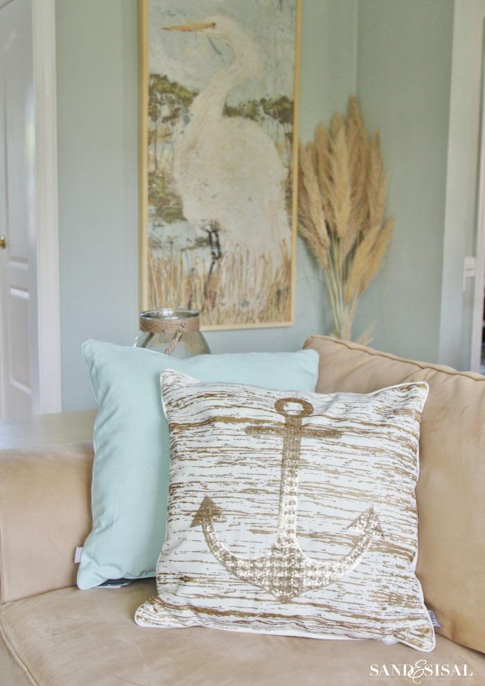 Glitzy Anchor Pillow from Kirklands