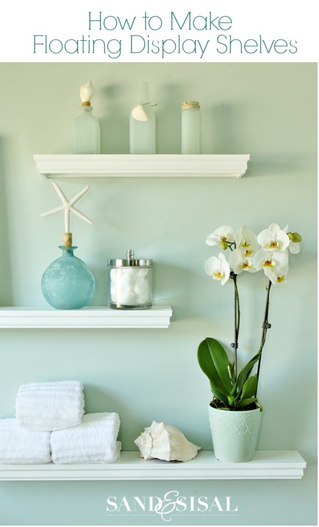 how to make floating display shelves