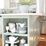 Kitchen Island Makeover with ASCP Duck Egg Blue