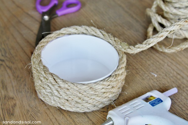 making sisal rope candle holders - Sisal Rope