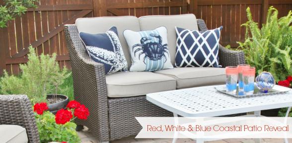 Red, White, & Blue Coastal Patio Reveal