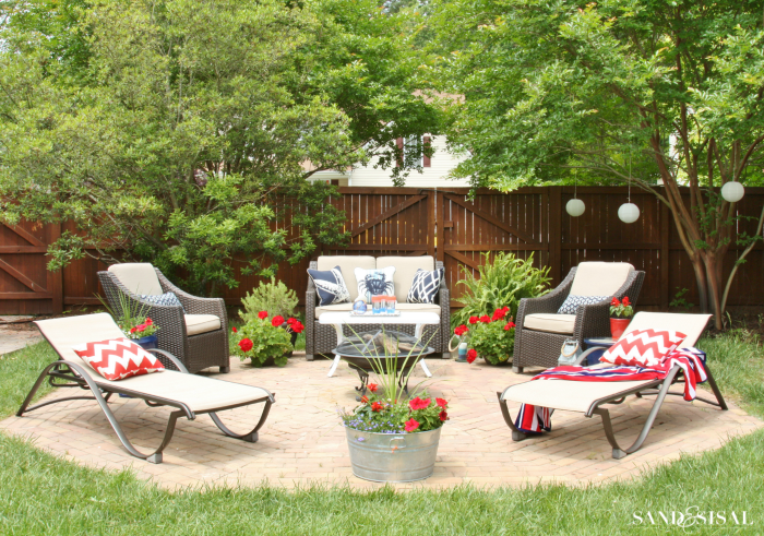Red, White, and Blue Patio