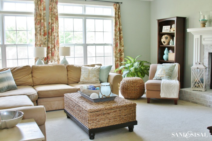 Sand & Sisal's Coastal Family Room