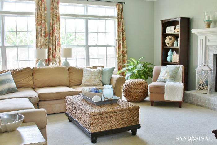 Sand & Sisal's Coastal Family Room