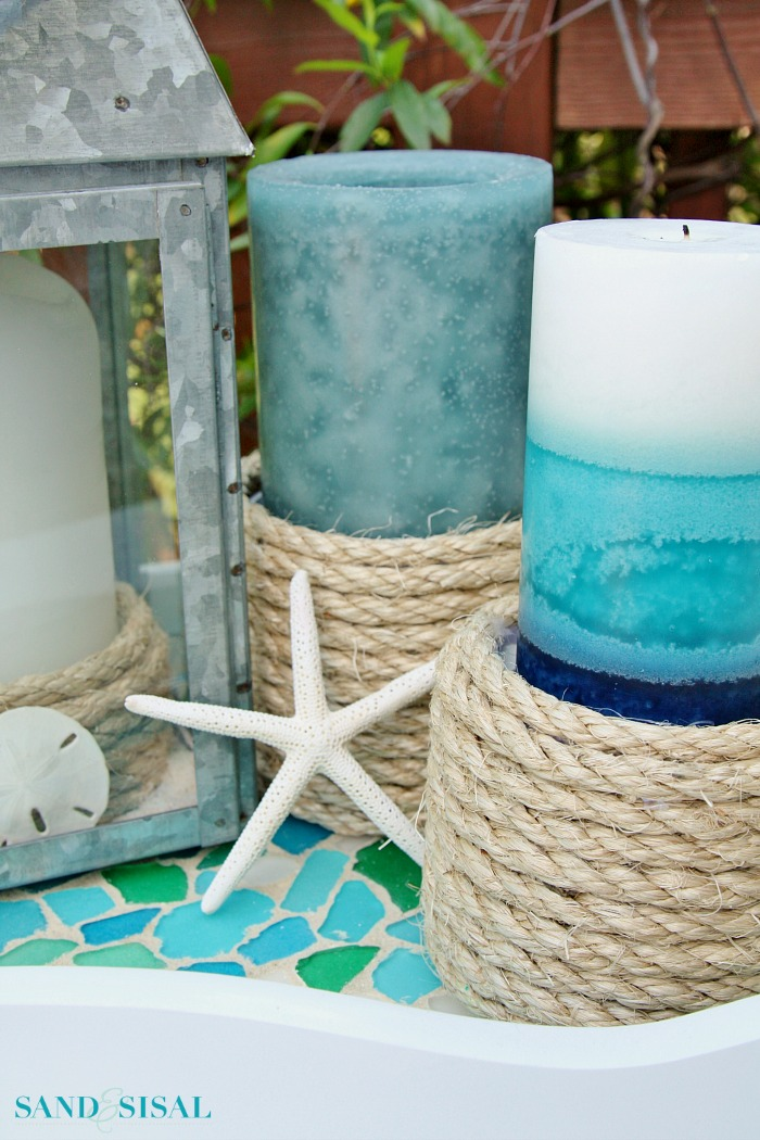 DIY Sisal Rope Candle Holders