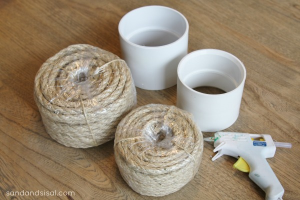 supplies for making sisal rope candle holders - Sisal Rope