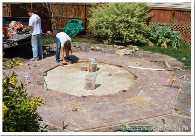 laying an octagonal patio