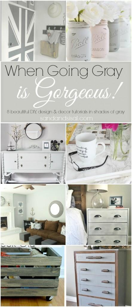 8 beautiful DIY, design & decor tutorials in shades of gray