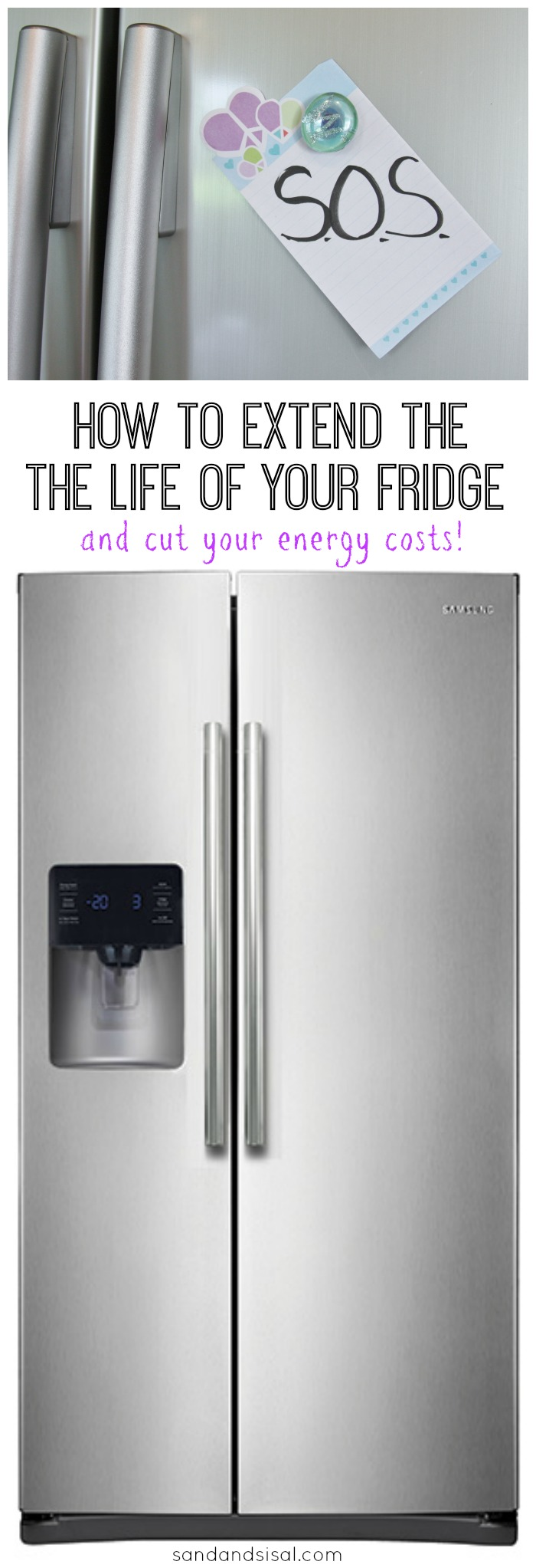 This is a great tip on How to Extend the Life of Your Fridge and cut energy costs