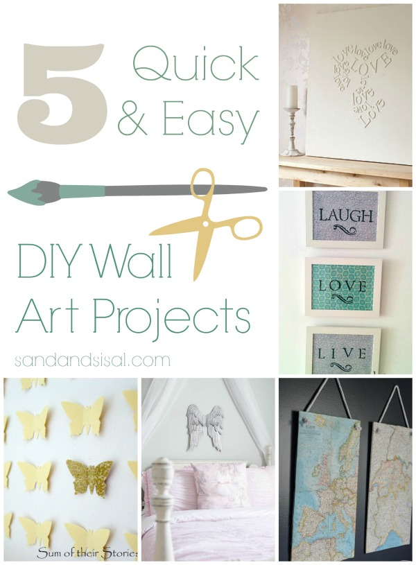 5 Quick & Easy DIY Wall Art Projects