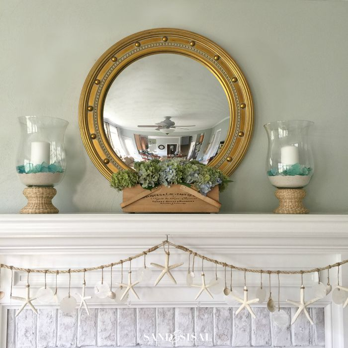 Summer Coastal Mantel - Starfish and Capiz Garland