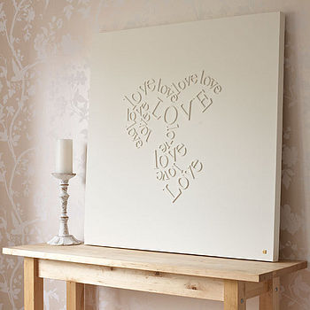 DIY Love Letters Wall Art