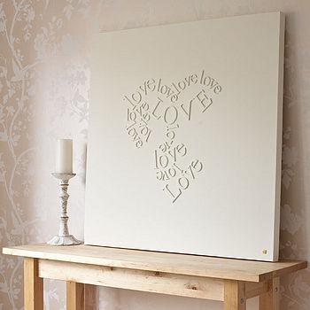 DIY Love Letters Wall Art