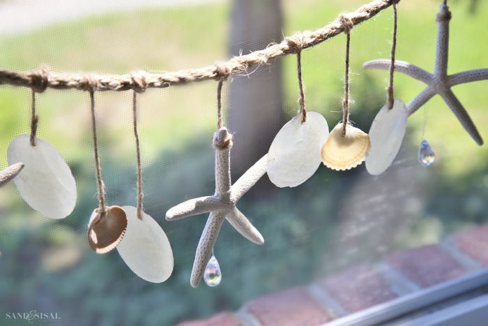 DIY Shell Window Chimes