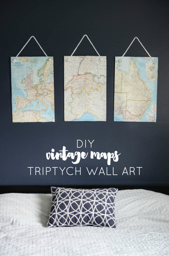DIY Vintage World Map Art