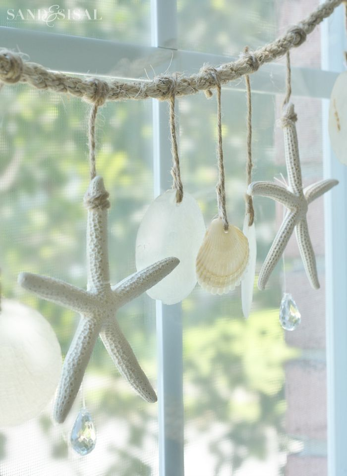 Sea Chimes - Starfish and Capiz Shell Garland