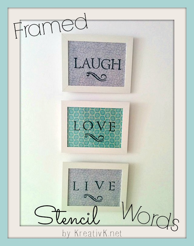 Stenciled Word Wall Art