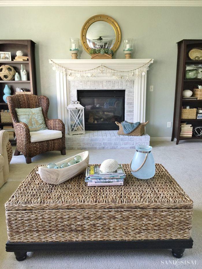 Summer Coastal Familyroom and Mantel