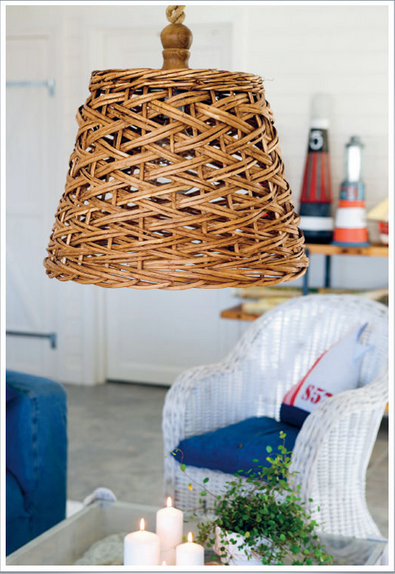 The Nautical Home - basket lamp