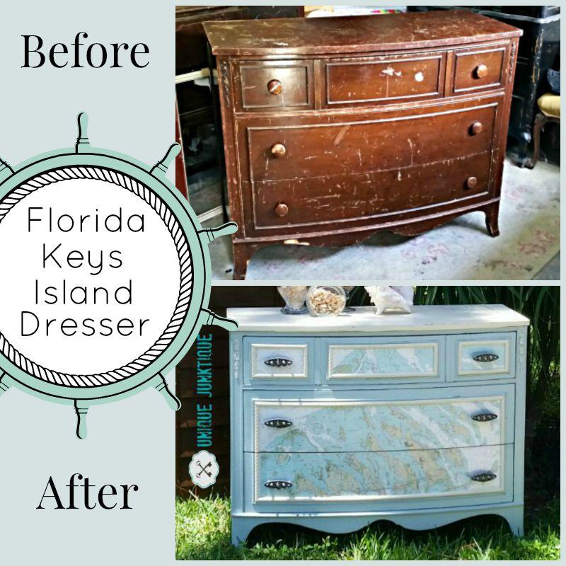 Amazing Coastal Dresser Makeover