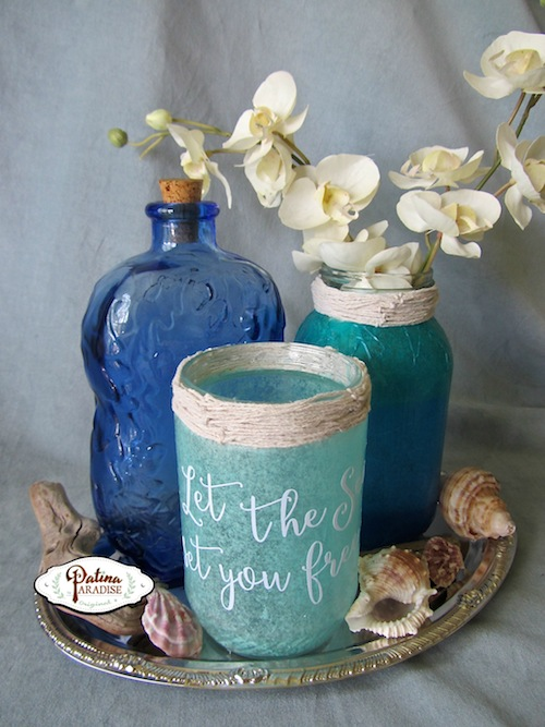 Faux Sea Glass Decorative Jars