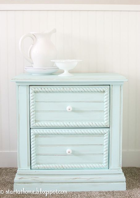 Attractive Mint Chest Makeover