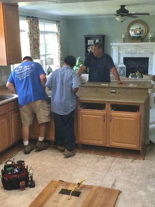 Removing quartz counters
